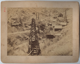 The first wells in California, Pico Oil Works, Pico Canyon Newhall, 1885 | by SMU Central University Libraries
