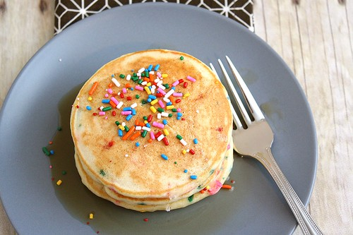 Cake Batter Pancakes | by Tracey's Culinary Adventures