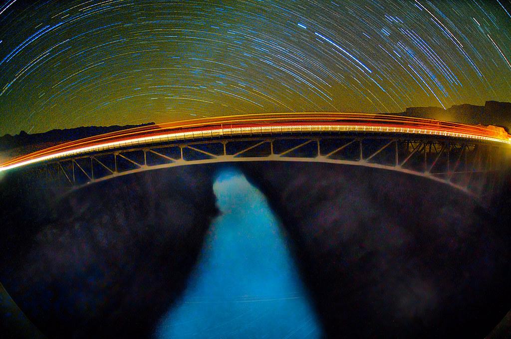 Navajo Bridge at Night