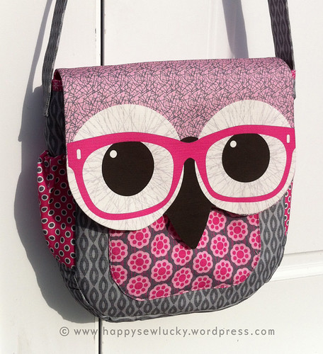 Geeky Owl Bag - PINK! | by happysewlucky