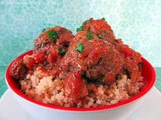 Sweet and Spicy Meatballs with whole-grain Couscous | by CinnamonKitchn