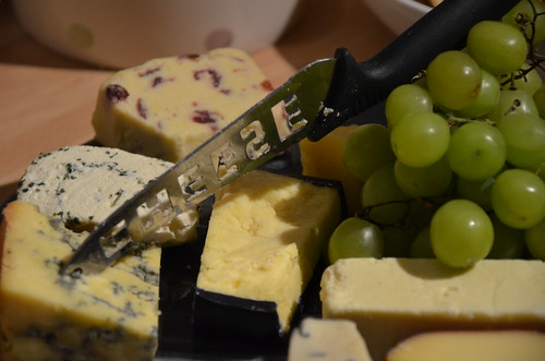 Cheeseboard and cheeseknife and cheeses | by Ben Sutherland