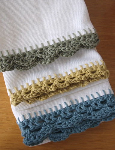 Crochet Edge Tea Towels | by CuriousStitch