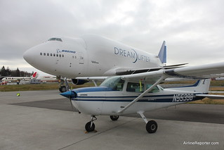 Cessna and Dreamlifter | by AirlineReporter.com