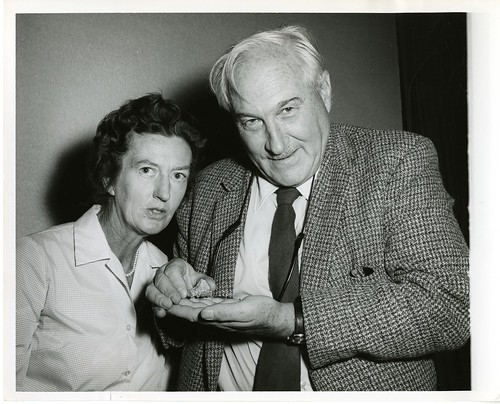 (left to right): Mary Douglas Nicol Leakey (1913-1996) and her husband Louis Seymour Bazett Leakey (1903-1972) | by Smithsonian Institution