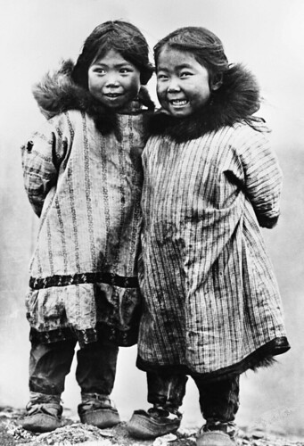 Two Laughing Inuit Children | by glenbowmuseum