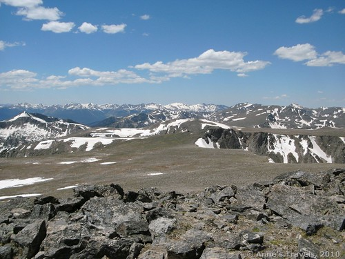 Views from Hallett Peak in Rocky Mountain National Park, Colorado