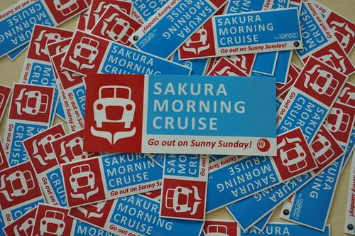 SAKURA MORNINGU CRUISE STICKERS