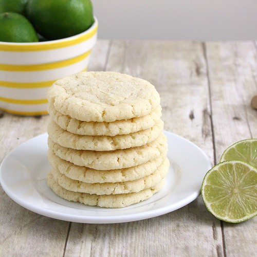 Chewy Coconut-Lime Sugar Cookies | by Tracey's Culinary Adventures