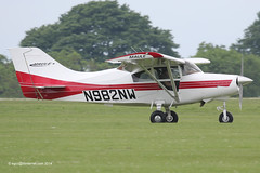 N982NW - 1999 build Maule MXT7-180A Comet, arriving at Sywell during AeroExpo 2014