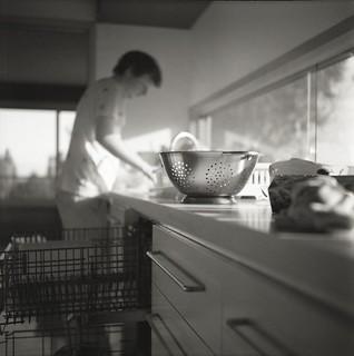 "Tom working at the ""washing machine"" 