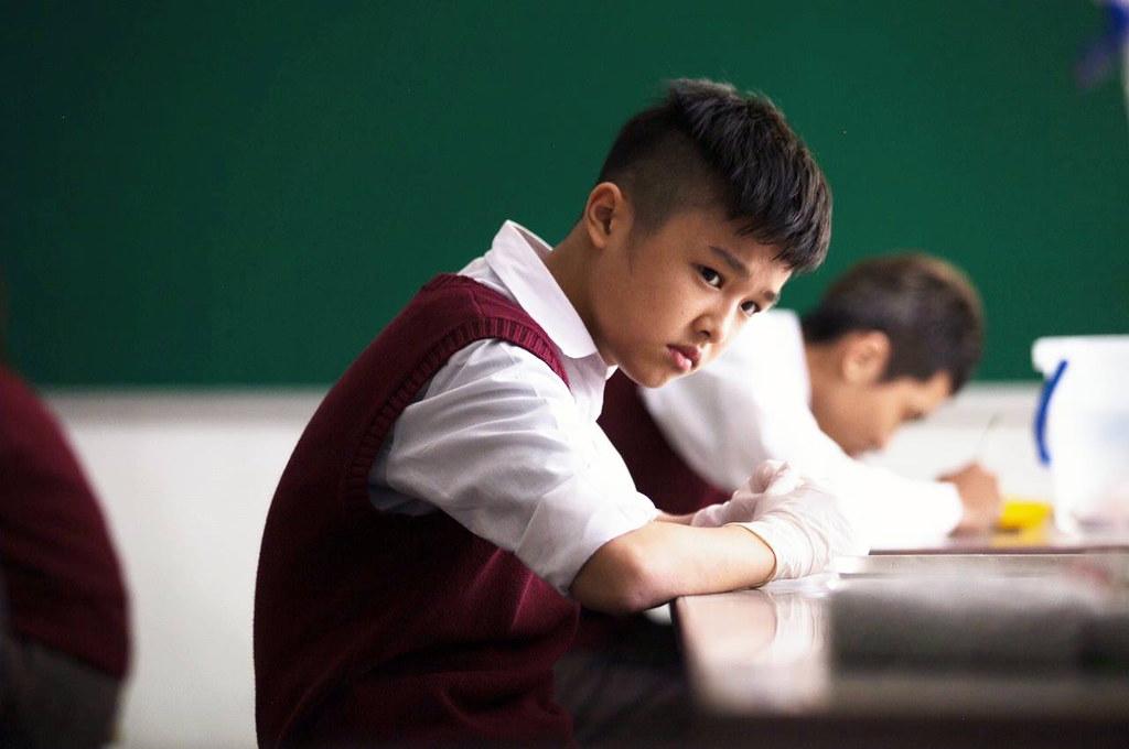 陳鼎中仔仔劇照-在川流之島中飾演一位正值叛逆期的少年(照片取自仔仔媽媽)