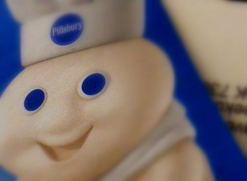 Smiling Pillsbury Icon, Blue Circles | by danagraves