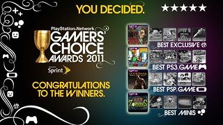 2011 PlayStation Network Gamers' Choice Awards-KeyartWinners | by PlayStation.Blog