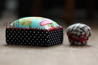Box and Bottle Cap Pincushions | by Izznit