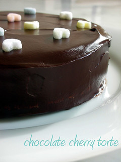 lora brody's chocolate cherry torte | by awhiskandaspoon