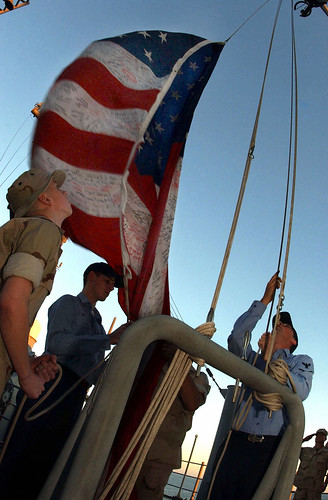 Ground Zero Flag Raised on USS Bataan, 2001 | by NYCMarines