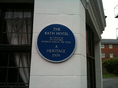 The Bath Hotel plaque | by Frankie Roberto