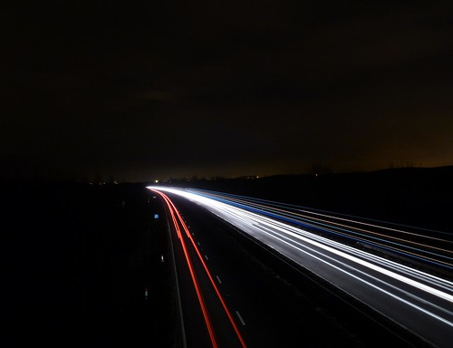 Light trails on the A19 | by NightSnapper