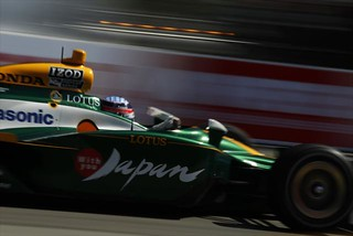 Takuma Sato with speed | by IndyCar Series