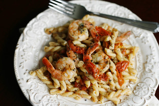 Shrimp, Basil and Tomato Pasta with Manchego | by Sarah :: Sarah's Cucina Bella