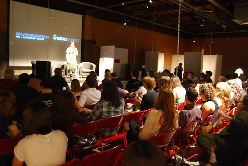 Eyebeam Executive Director, Amanda McDonald Crowely introduces the presenters | by eyebeamnyc
