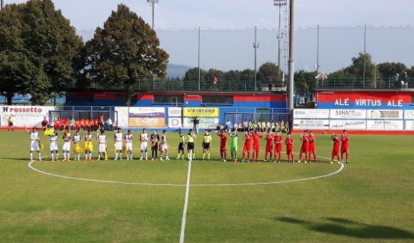 Virtus-Campodarsego 3-0, Manarin-show, delirio rossoblu!