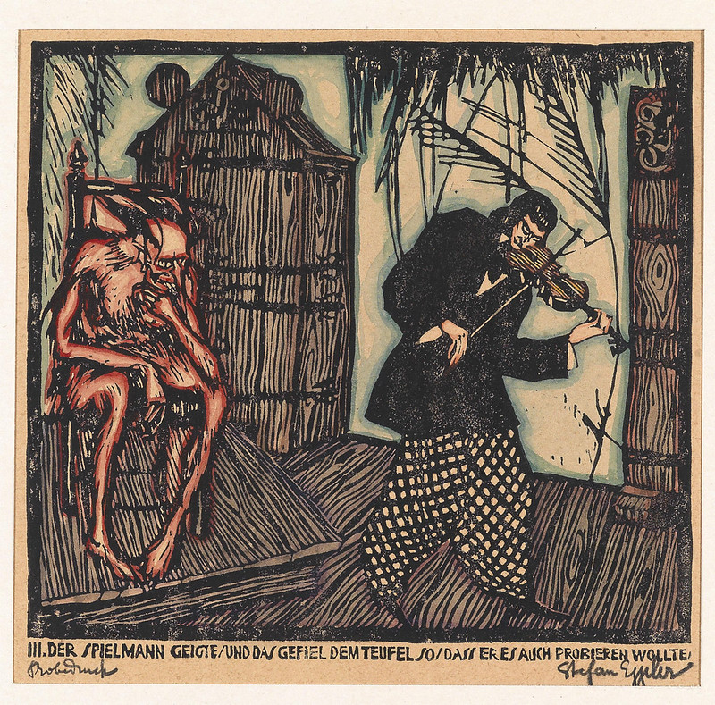 Stefan Eggeler - The musician and the devil in the enchanted castle, 1920