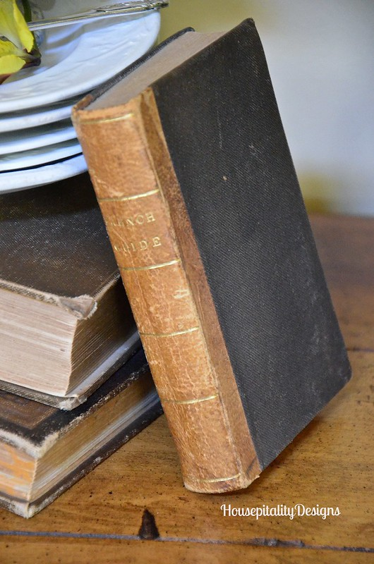 Antique French book - Housepitality Designs