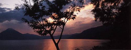 Lake Atitlan sunset, Guatemala