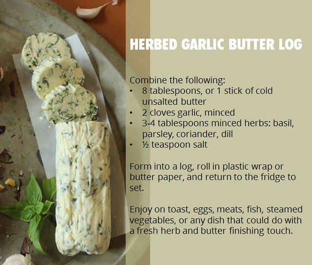 paticheri_herbed garlic butter log