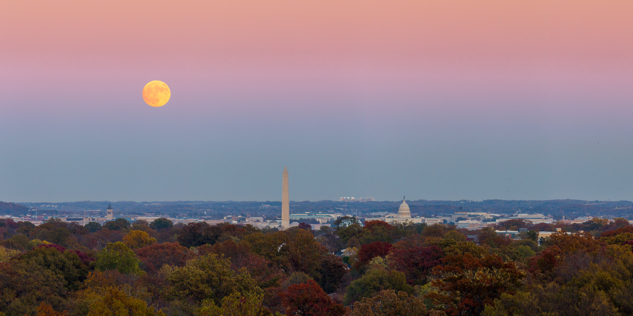 Supermoon over DC