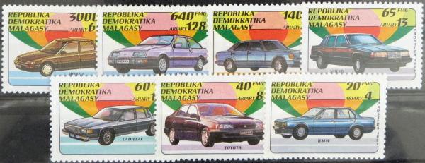 Známky Magadaskar 1992, séria automobily