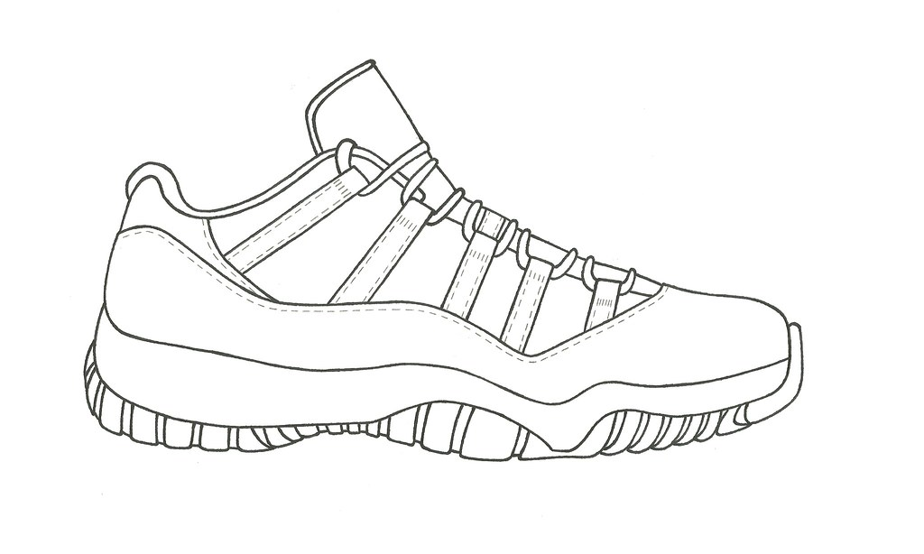 Perfect Air Jordan 11 Lows Drawing