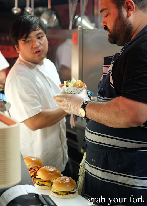Jovan Curic on the burger line at Superior Burger, Wakeley