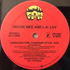 MICHEE MEE AND L.A. LUV:JAMAICAN FUNK CANADIAN STYLE(LABEL SIDE-B)