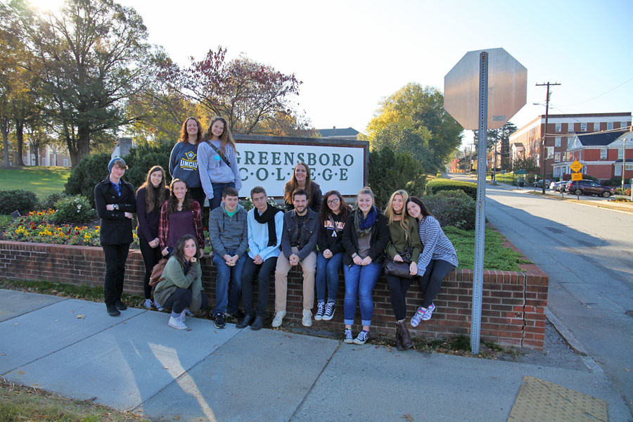GCS Drama students at North Carolina Theatre Conference