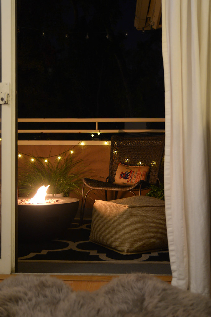 bedroom patio at night