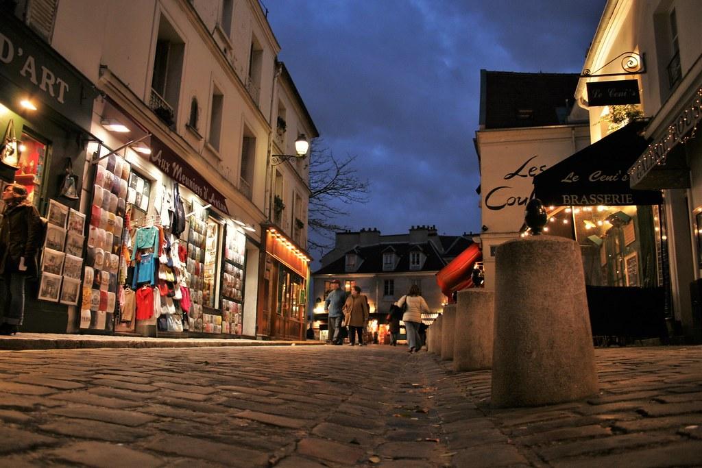 Barrio de Montmartre en París