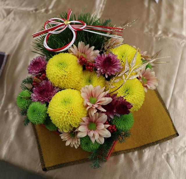 日比谷花壇 お正月 しめ飾り アレンジメント 年賀