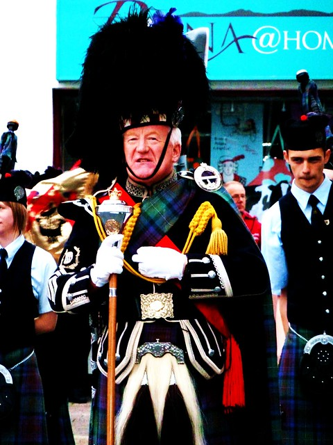 Drum Major, Isle of Skye Pipe Band, Portree, Skye