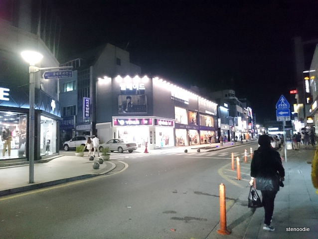 the views of downtown Gangneung