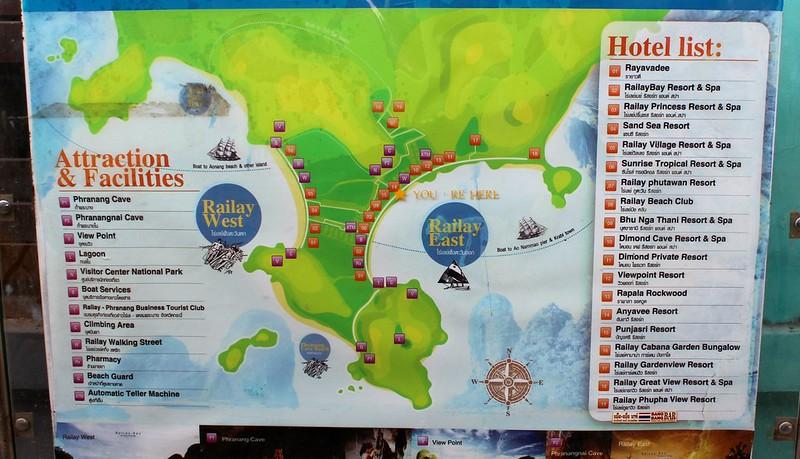 Mapa Railay