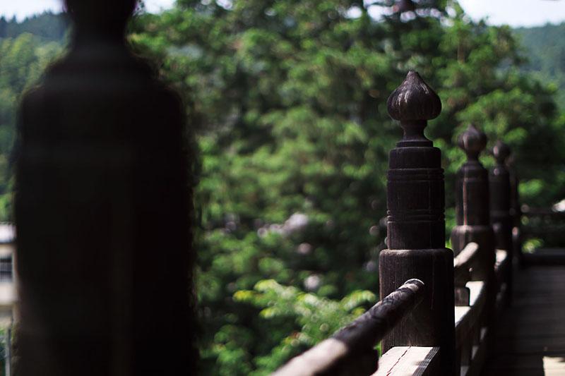 富士川町 あじさい寺、妙法寺 山門上