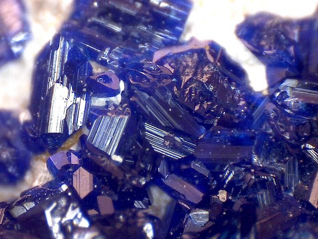 Azurite crystals (micro-capture, 200x)