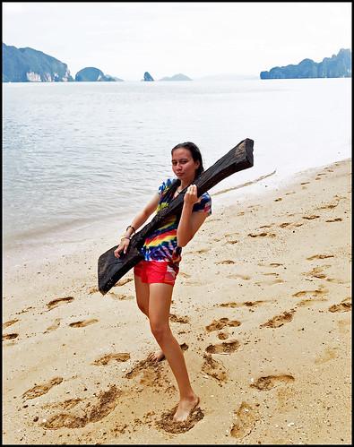 Driftwood Guitar - Deserted Beach