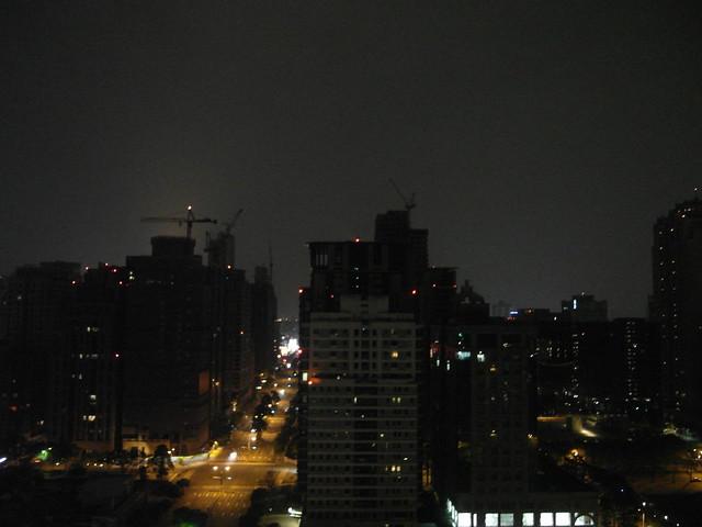 21樓的夜景@台中日月千禧酒店