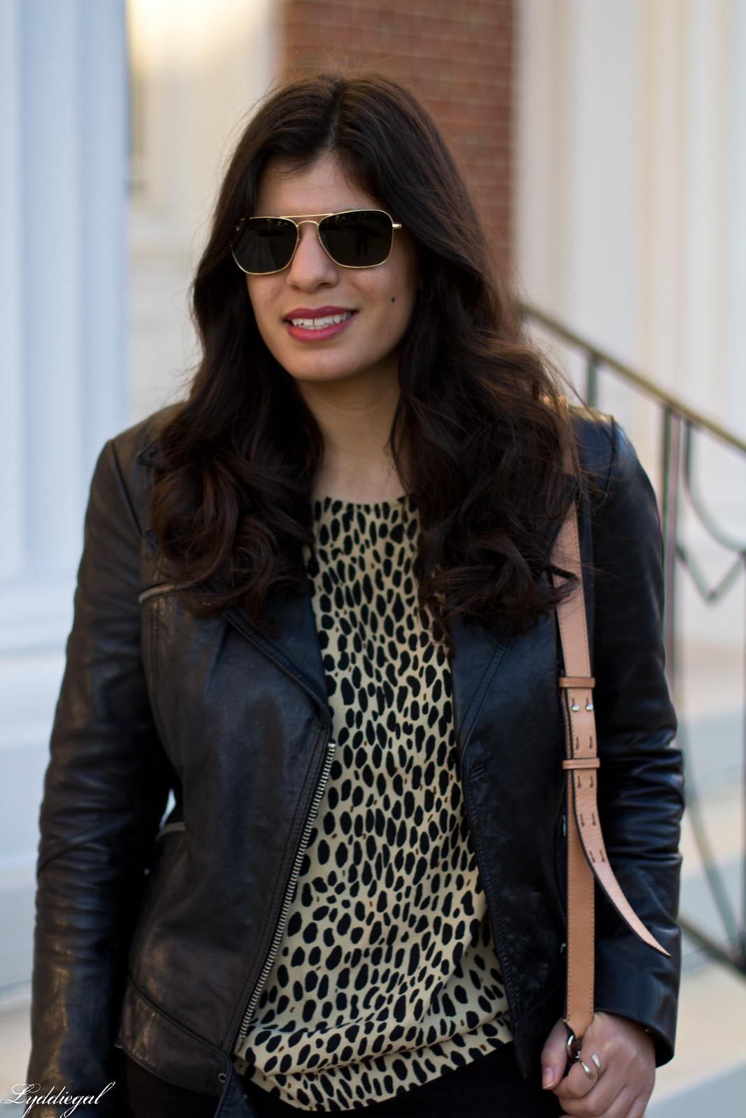 leopard print blouse, black leather jacket, black jeans-6.jpg
