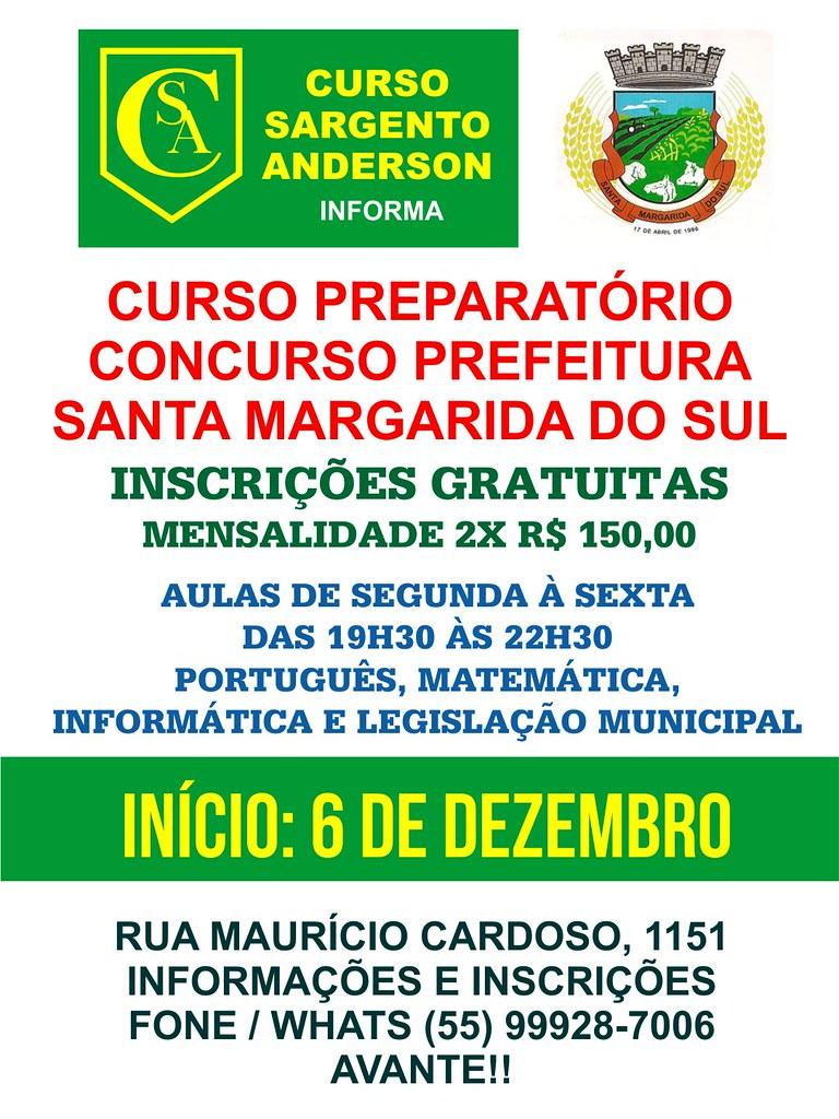 Curso Sargento Anderson - Curso Prefeitura Santa Margarida