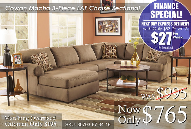 Cowan 3 piece Sectional FINANCE